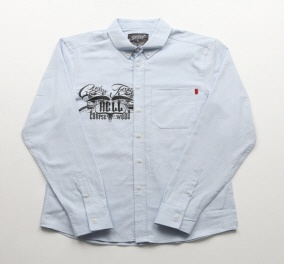 [에잇볼륨]COWBOYSFROMHELL OXFORD WORKSHIRTS (BLUE)