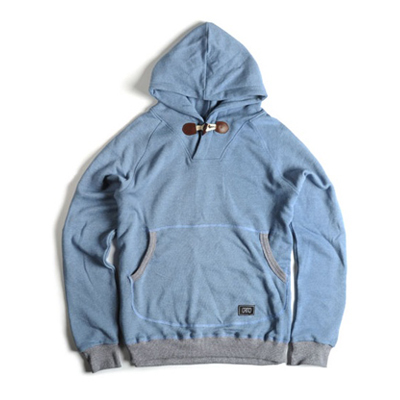 [크리틱]  BREEZE PULLOVER HOODY (GRAINED BLUE)