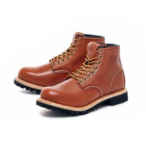 [PATH FINDER]2068A LEATHER BOOTS RED BROWN