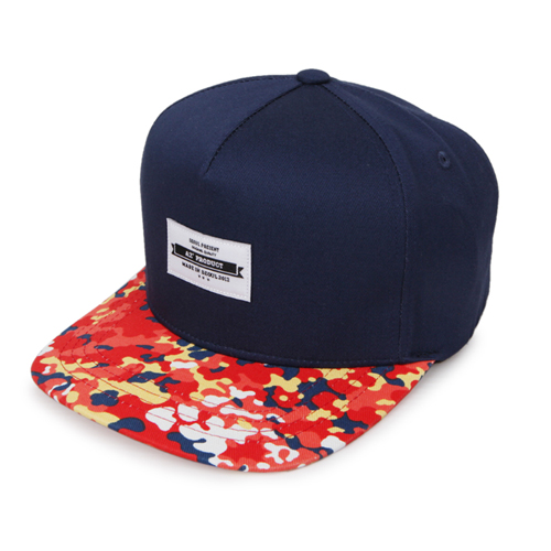 *교환&환불불가* [에이지]AZ FLOWER CAMO SNAPBACK - RED/NAVY