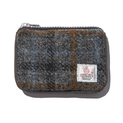 [디얼스] HARRIS TWEED CARD ZIP WALLET - GREY2